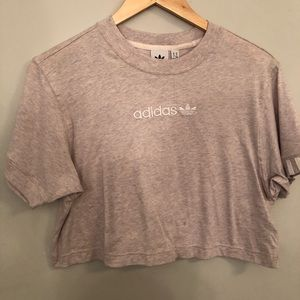 cropped adidas tee
